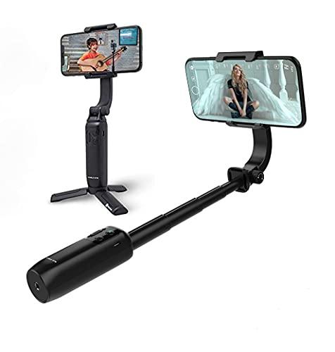 Feiyu-Tech [Offiziell] Vimble-ONE 1-Achsen-Handy-Stabilisator Selfie-Stick Stativ Bluetooth für iPhone und Android, Anti-Shake,Palm Gesture Shutter