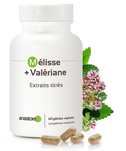 Melisa + Valeriana * 400 mg / 60 cápsulas * Para los problemas de sueño, el estrés y la ansiedad * Fabricado en FRANCIA