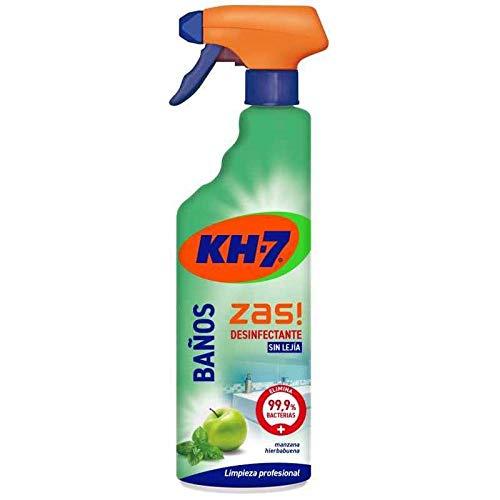 KH-7 Limpiador Baños y Desinfectante - Desinfección sin lejía - Aroma a manzana y hierbabuena - 1 Recipiente de 750 ml