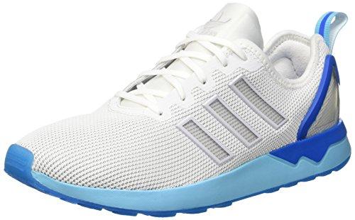 adidas ZX Flux ADV, Scarpe Running Uomo, Bianco (Ftwrr White/Ftwrr White/Blue GlowFtwrr White/Ftwrr White/Blue Glow), 40 EU