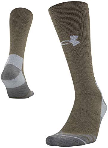Under Armour Adult Hitch Rugged Boot Socks, 1-Pair, Hearthstone/Steel, Shoe Size: Mens 12-16