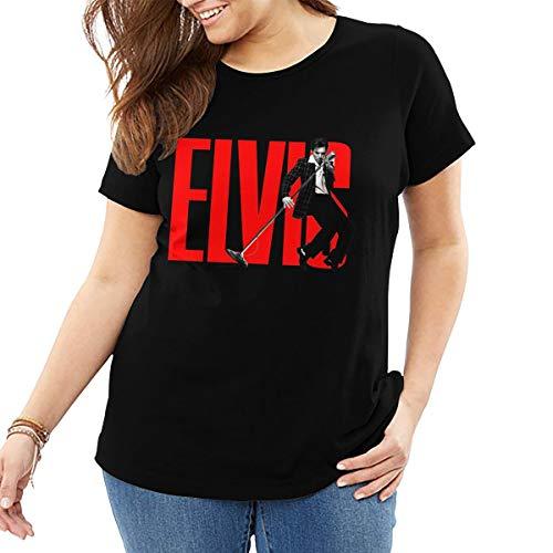 John J Littlejohn Elvis Aaron Presley Damen T-Shirt Baumwolle Tee Tops Casual Shirt Street Wear Plus Size T-Shirt