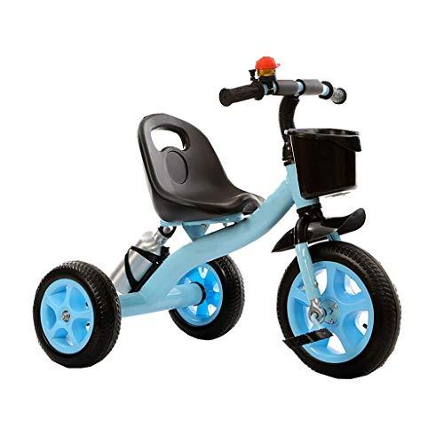 Triciclo de empuje para bebés, Triciclo de triciclo Triciclo de triciclo, Marco grueso, Triciclo multifunción portátil con portabidón, Triciclo de exterior para bebés de 2-6 años, 2 colores, 71x58x38