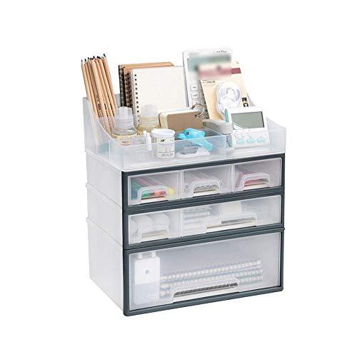 Home Desk Organizer Cajón multifuncional MULTI-CAPA DE MULTIPA DE MARCA DE MARCOS DE ALMACENAMIENTO Tipo de cajón Cuidado de la piel Caja de almacenamiento Caja de almacenamiento y oficina (Color: Un