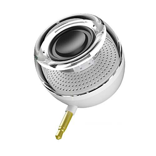 WYL draagbare luidspreker, mini-smartphone, subwoofer-luidspreker, oplaadbare woofer-stekker voor alle merken mobiele telefoons en laptops, wit