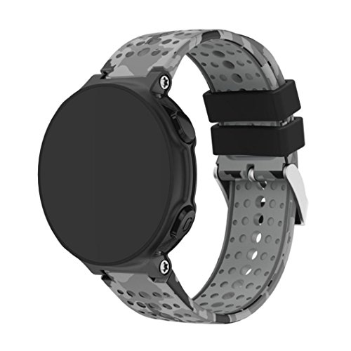 Great Price! Veepola Soft Silicagel Replacement Bracelet Strap Watch Bands for Garmin Forerunner 235...