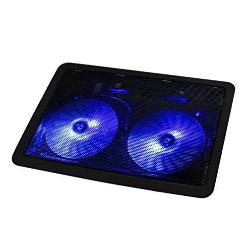 Pad de enfriamiento portátil El Enfriador De Portátiles Puede Acelerar 2 Puerto USB Y 2 Ventilador De Refrigeración Almohadilla De Enfriamiento Portátil Soporte De Cuaderno 12-17 Pulgadas para portáti