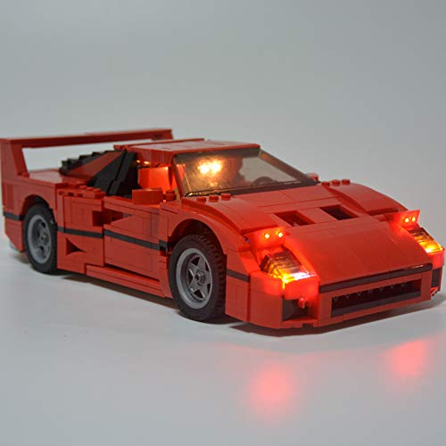 Lampenvorrichtung Set Kompatibel mit Ferrari-F40, LED-Beleuchtung Kit für Lego 10248 Building Blocks Spielzeug (ohne Lego-Modell)