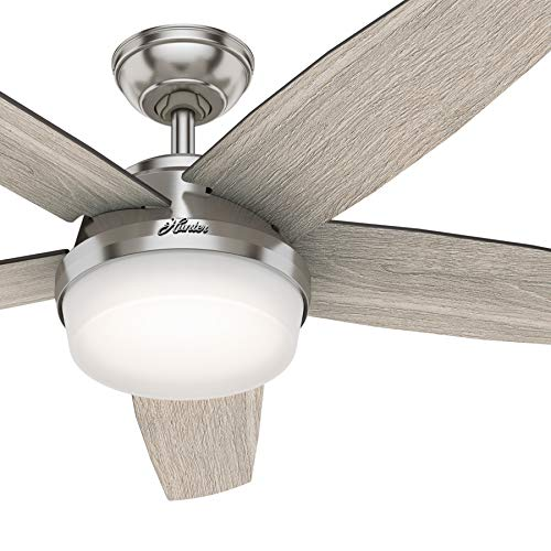 Hunter Fan 52 inch Contemporary Brushed Nickel Indoor...