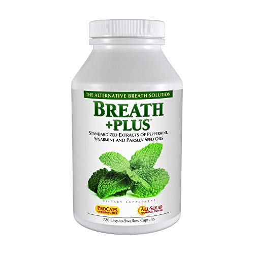 Andrew Lessman Breath Plus 60 Softgels – Natural Breath Freshener, Helps Eliminate Odors from Food, Smoking, Morning Breath from The Inside Out, with Peppermint & Spearmint. Easy to Swallow Softgels