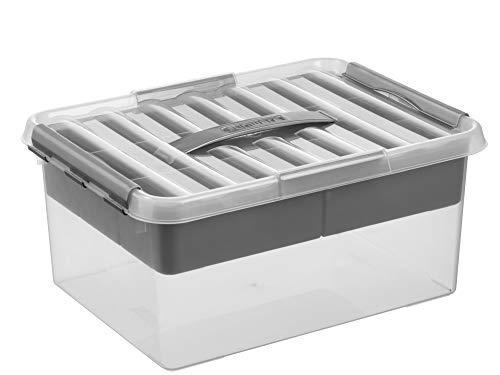 Sunware Q-Line Multi Aufbewahrungsbox transparent metallisch 15 Liter