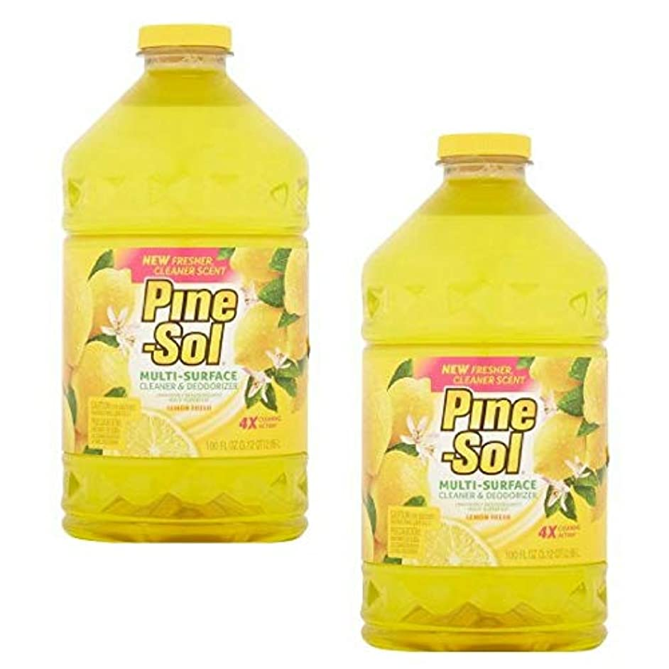 Pine-Sol Multi-Surface Cleaner, Lemon Fresh, 100 Ounce Bottle (pack of 2)