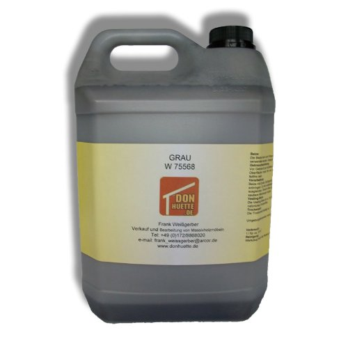 Holzbeize Beize Grau 5000 ml (Grundpreis € 11,00 / l)