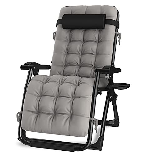 GzxLaY Silla Acolchada de Gran tamaño Zero Gravity Lounge, sillón reclinable Ajustable con reposabrazos Ancho, Soporte de 440 Libras, para Silla de Ocio en el balcón de la Playa,D
