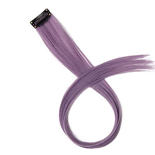 MixFactory Cos Wig Color Largo y Recto de la Onda sintética de Color Puro Puro Clip con Peluca de Damas 20 Pulgadas 52