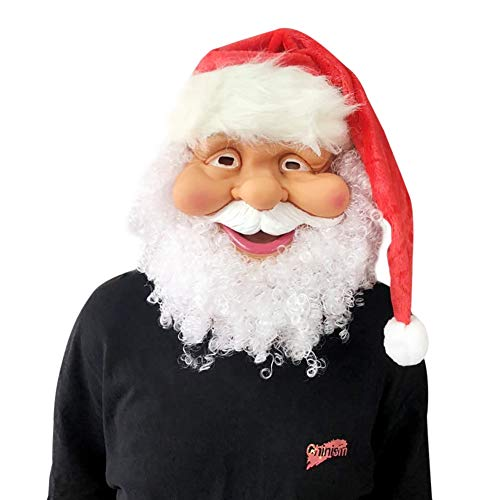 Balai Weihnachtsmann Maske, Full Face Covered Party Maske, Weihnachten Kostüm Spielen Dress Up Party Favors Supplies