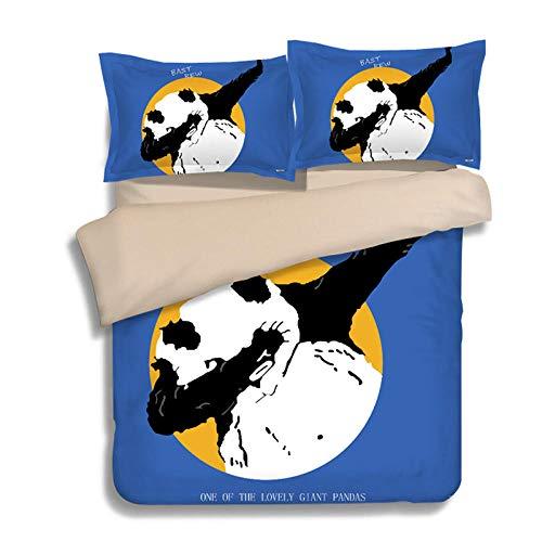 RESUXI Europäische Und Amerikanische Amerikanische Flagge Britische Flagge Reis Flagge Bettbezug Bettwäscheschlafsaal Dreiteilig, King Size Bettbezug@S_1.8m Bett (4 stücke)