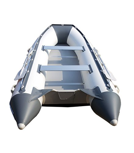Newport Vessels 11ft 9in Baja Inflatable Dinghy Boat Transom Sport Tender - 6 Person - 20 Horsepower USCG Rated