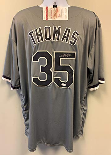 Frank Thomas Chicago White Sox Signed Autograph Grey Custom Jersey JSA Certified