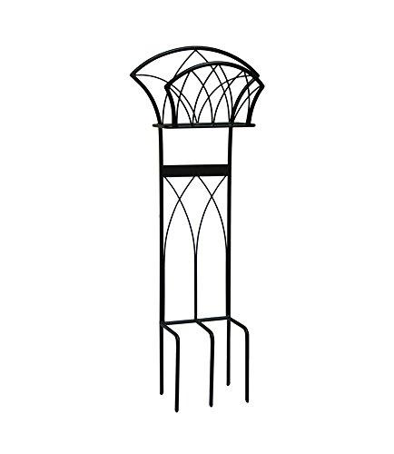 Liberty Garden 116 Decorative Garden Hose Stand, Holds 125-Feet of 5/8-Inch Hose, Black