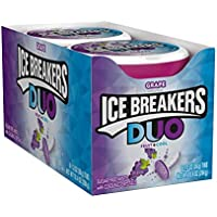 8-Count ICE Breakers Duo Grape Flavored Sugar Free Breath Mints, Halloween, 1.3 oz Tins