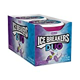 ICE BREAKERS DUO Grape Flavored Sugar Free Breath Mints, Halloween, 1.3 oz Tins (8 Count)