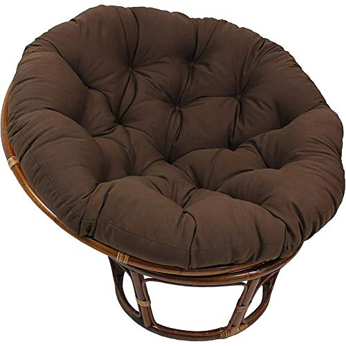 ZWXXQ Waterproof Round Papasan Swing Chair Pads Hanging for Outdoor Patio Comfortable Chair Cushion Quilted Sectional Basket -50x50cm A