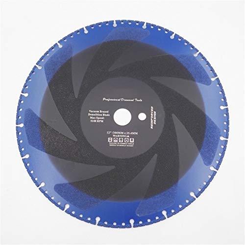 "BYOLPMKK-Jiajia Industrial Accessories 2pcs 12"" Premium Vacuum Brazed Tech Diamond Cutting Discs for Multi Purpose 300mm Rescue Saw Blades Diameter 300mm"