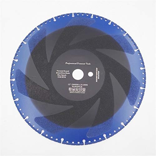 ESUHUANG 2pcs 12' de vacío de primera calidad con soldadura de latón de corte de diamante Tech discos for Multi Propósito 300mm rescate hojas de sierra de 300 mm de diámetro Suministros de herramienta