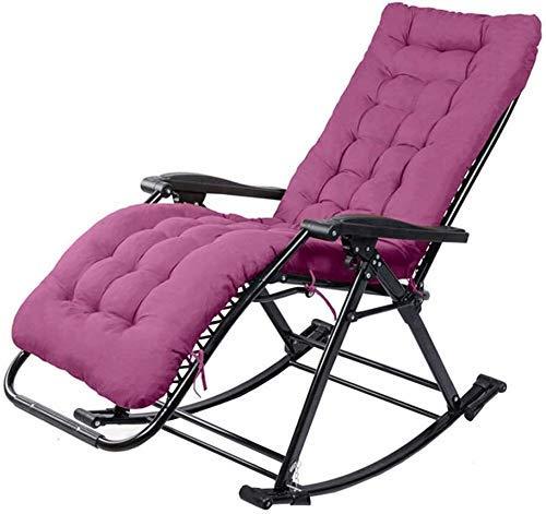 WDHWD - Sillón reclinable reclinable para exteriores, sillas largas de interior, silla plegable de jardín, silla de terraza, sillas largas reclinables de balcón
