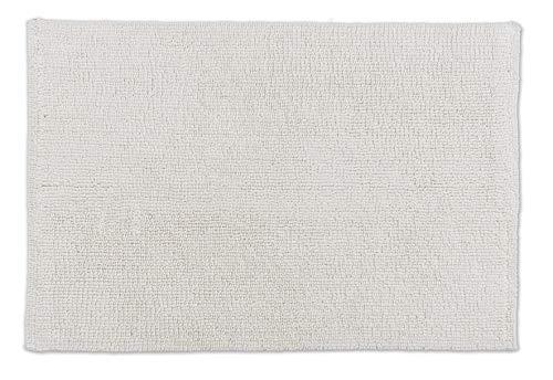 Schöner Wohnen Kollektion Badteppich 40 x 60 cm – beidseitig verwendbar – waschbar – 100% Baumwolle – einfarbig – Creme