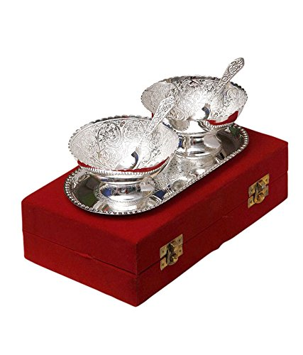 Odishabazaar Silver Plated Brass Bowl...