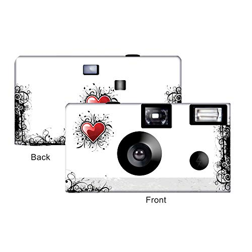 Sale!! 5 New Love Disposable Cameras, Anniversary, Party, Single use, Flash FJ3607-C