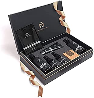 The Man Company Ultimate Charcoal Detan Kit with Elegant Gift Box | Charcoal Body wash, Shampoo, Face Scrub, Face wash, Ch...