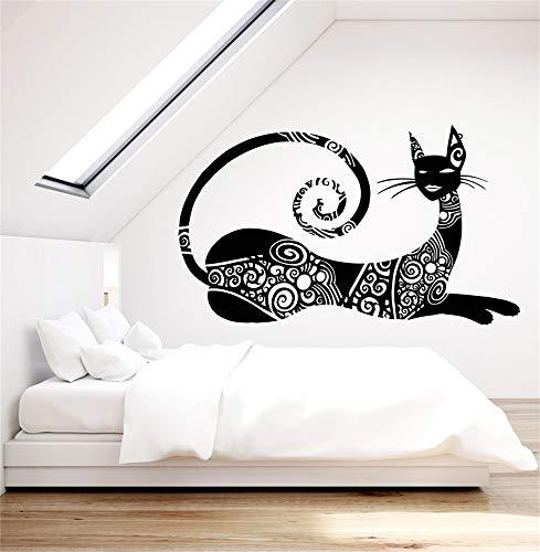 Vinilo Tatuajes de pared Cita Decoración para el hogar Abstracto Sphynx Cat Art Fashion Pet Tattoo