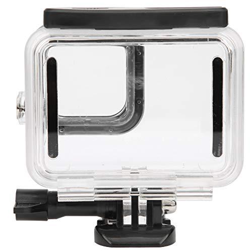 zhoul 50M Cámara de acción Transparente Estuche Impermeable Carcasa Protectora Estuche para cámara Gopro Hero 9 Carcasa de Buceo (Negro)