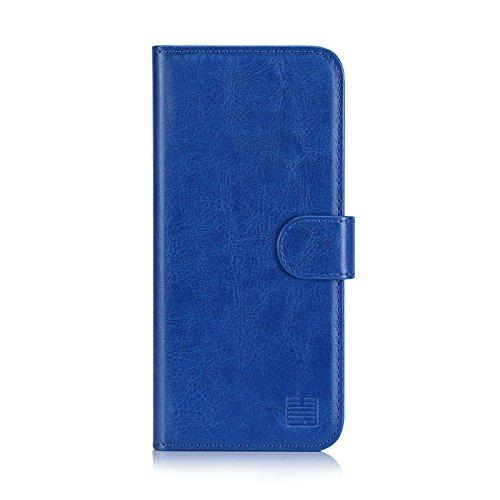 32nd Funda Flip Carcasa de Piel Tipo Billetera para Huawei P20 con Tapa y Cierre Magnético y Tarjetero - Azul
