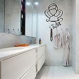jiushivr Señoras SPA Vinilo Impermeable Etiqueta de La Pared Poster Mural SPA Baño Azulejo Vidrio Decoración del Hogar Decoración de La Pared Decoración de La Casa 70x105cm