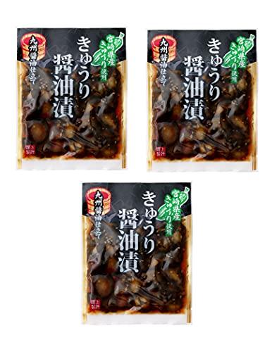 [上沖産業] 宮崎産 きゅうり 醤油漬/漬物 100g×3