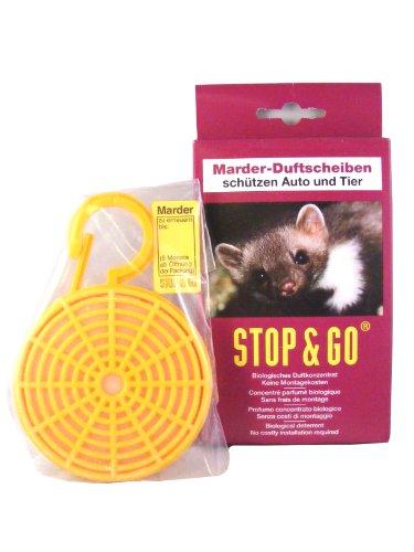 """AD Anti-Marder-Duftkörbchen Duftkonzentrat auf Tierfettbasis. Riecht nach \""""gefährlichem Feind\"""". Große Verdunstungsfläche für intensive Duftabgabe. Lange Wirksamkeit. Lasche mit Verfalldatum."""