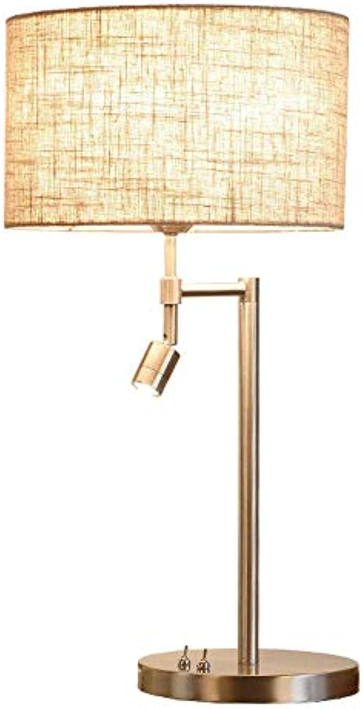 TongT18 LED Tischleuchte, Schlafzimmer Nachttischlampe, Nordic Nachtlicht Tuchlampe Modern Dekorative Licht Eye-Caring Lampe Lernen Licht Leselicht Warme Arbeitszimmer Lampe