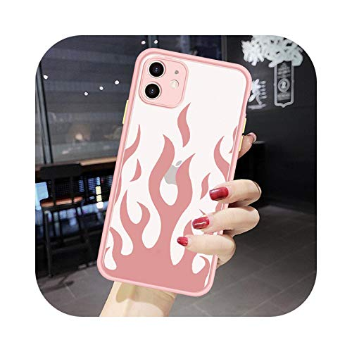 Cool Flame Pattern Fire teléfono caso para iPhone 11 Pro 12 7 X XS MAX XR SE20 8 6Plus cubierta de silicona a prueba de golpes Candy Coque estilo 1-para iphone SE 2020