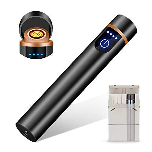 RiverMolars Y12 Encendedor Eléctrico, Mechero Recargable USB, Pantalla Táctil, a Prueba de...
