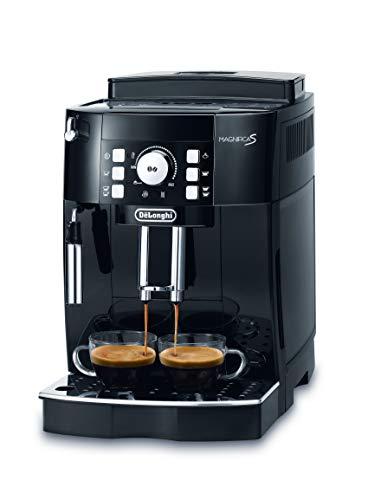 De'Longhi Magnifica S ECAM 21.116.B Kaffeevollautomat (Direktwahltasten und Drehregler, Milchaufschäumdüse, Kegelmahlwerk 13 Stufen, Herausnehmbare Brühgruppe, 2-Tassen-Funktion) schwarz