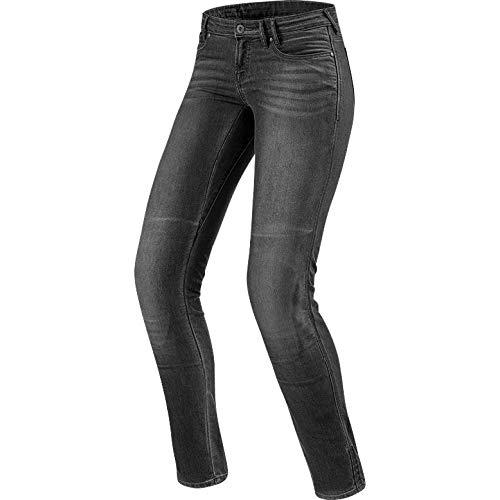 Rev'it! Motorfiets jeans motorbroek motorfiets jeans Westwood SF dames jeanbroek grijs Used 31/32, chopper/cruiser, het hele jaar, textiel