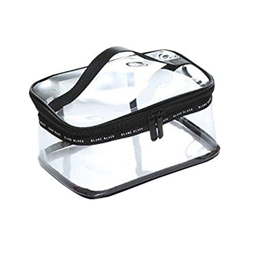 THEE Transparent Kulturbeutel Waschbeutel Kosmetikbeutel Reise Make up kosmetische Reisetasche Wasserdicht Damen,quadratische Form