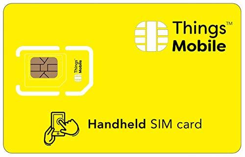 SIM Card DATI PREPAGATA per PALMARI - Things Mobile - con copertura globale e rete multi-operatore GSM 2G 3G 4G LTE, senza costi fissi, senza scadenza e tariffe competitive con 10€ di credito incluso