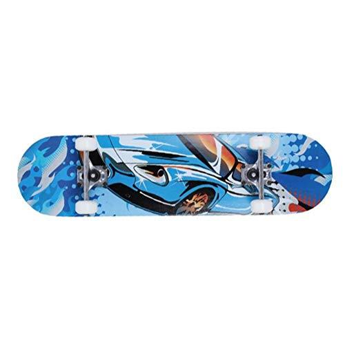 ZHNA Professioneller Scooter, 4-Rad-Skateboard Blitz-Rad-Doppel-Rocker Straße Brush Street Skateboard