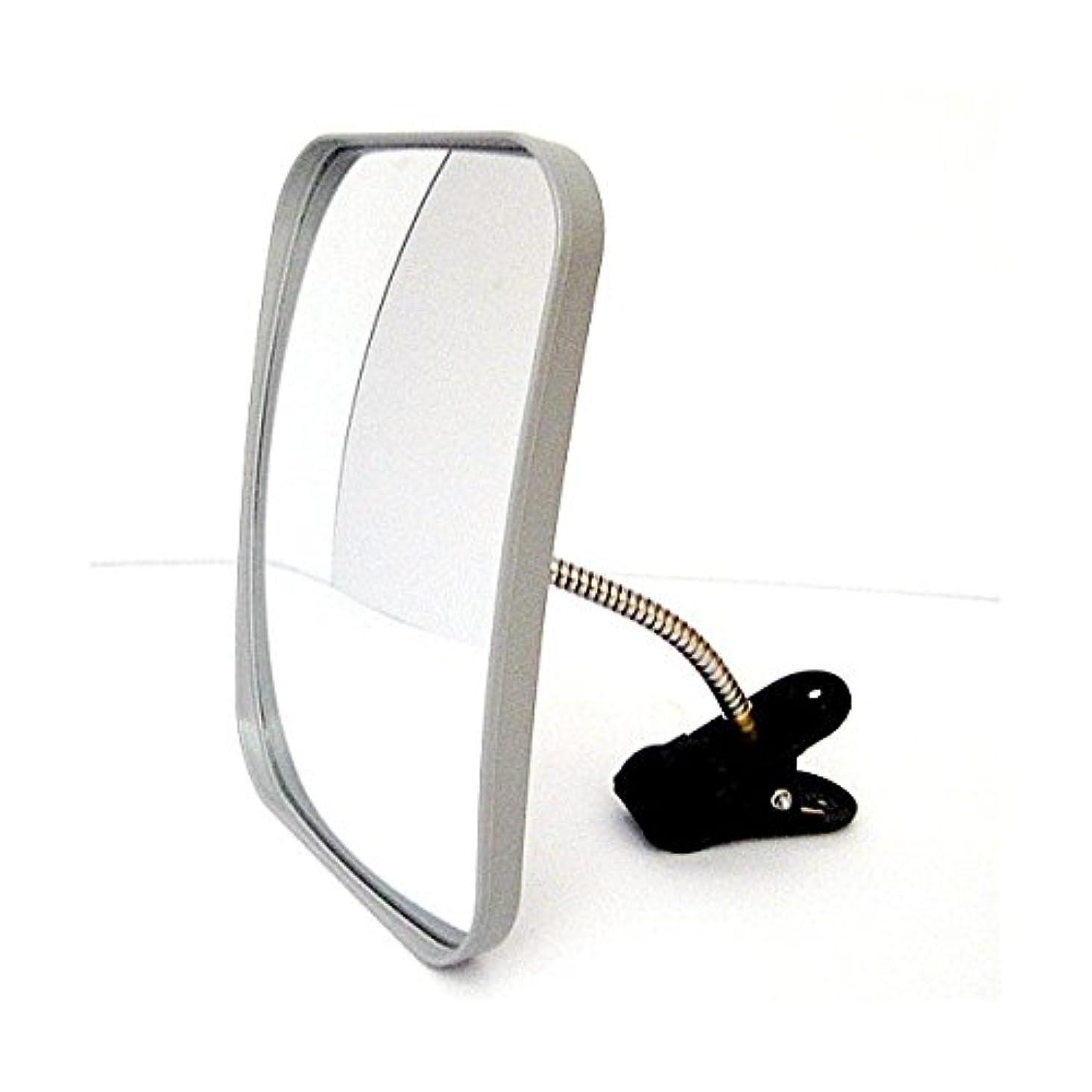 亡命良心的縫い目ホップ カーブミラー ガレージミラー 角型31cm×23cm HP-角30クリップ グレー 日本製