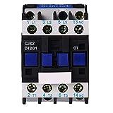 ETial DC contattore distribuzione elettrica motore avviamento relè 3-Phase Pole 1NC 12V Tensione bobina CJX2-1201-DC